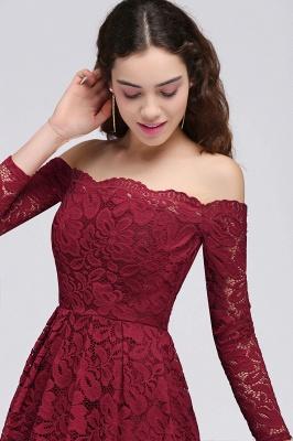 Una línea fuera del hombro vestidos de fiesta | corto encaje Borgo_a_4