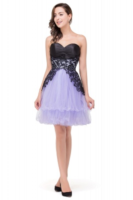 EVALYN | Quinceanera Sweetheart Short Dama Dresses with Bowknot-Sash_5