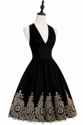 Simple vestidos de cóctel corte | cuello colgando burdeos_8