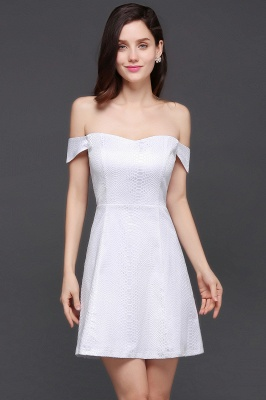 CIARA | Quinceanera Off-the-shoulder White In-stock Prom Dress_1