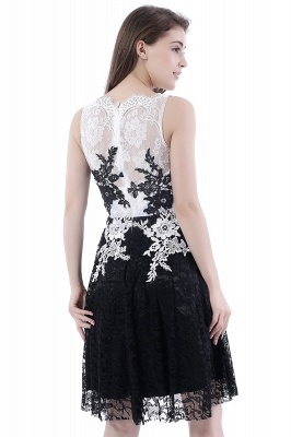Vestidos de baile Cuello redondo | negros de encaje en general_3