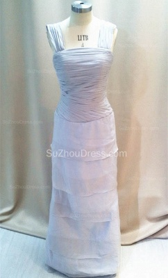 Elegant Tiered Silver Grey Chiffon Long Quinceanera Mother Dresses with Jacket Custom Plus Size Mother Dress_2