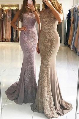 Elegant Sleeveless Lace Formal Dresses Affordable | Alluring Mermaid Banquet Dresses_1