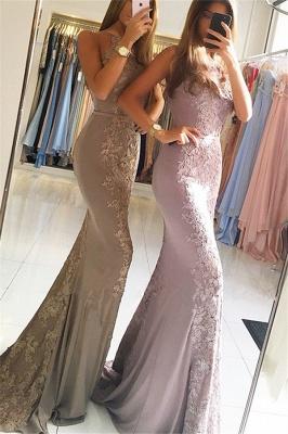 Elegant Sleeveless Lace Formal Dresses Affordable | Alluring Mermaid Banquet Dresses_4