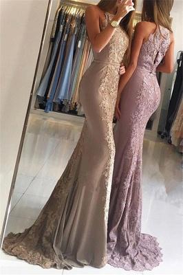 Elegant Sleeveless Lace Formal Dresses Affordable | Alluring Mermaid Banquet Dresses_3