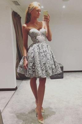 Cariño elegante vestidos de fiesta | Una línea de vestidos de cóctel sin mangas_1