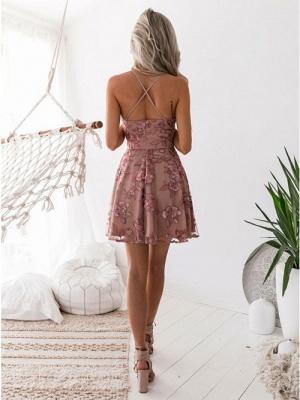 Classic Pink Floral Dama Dresses Spaghetti Straps Lace Appliques XV Dama Dresses_4