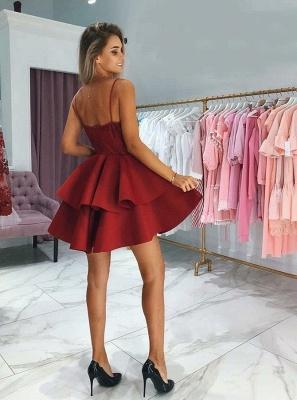 Classic Layers Dama Dresses Spaghetti Straps Lace XV Dama Dresses with Appliques_3