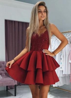 Classic Layers Dama Dresses Spaghetti Straps Lace XV Dama Dresses with Appliques_1