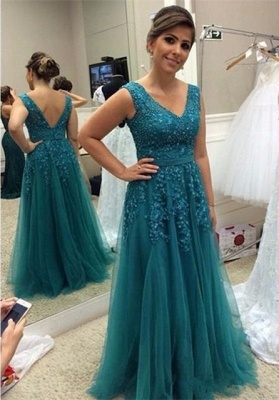 Modest Straps A-line Beading Sleeveless Belt Quinceanera Mother Dress_1