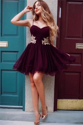 Correas de espagueti borgo_a Homecoming Vestidos baratos en línea | Apliques de encaje dorado 2019 vestidos hoco_1
