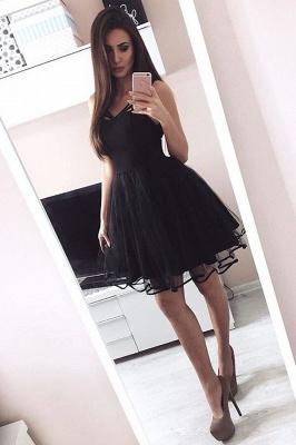 Little Black Short Dama Dresses Cheap Online 2019 Pretty Tulle Quince Dama Dress_1