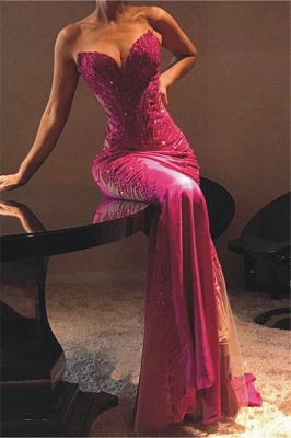 New Arrival Sweetheart Lace Formal Dresses | Affordable Sheer Tulle Alluring Mermaid Prom Dress_1
