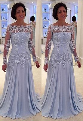 Elegante vestido de la madre de quincea_era | una línea de encaje de manga larga_1
