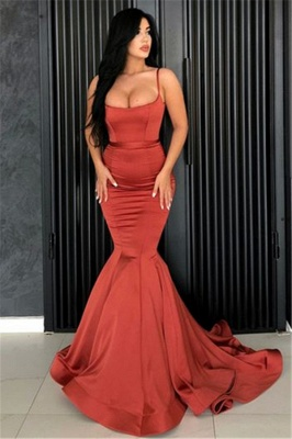 Alluring Mermaid Spaghetti Straps Formal Dresses Affordable | Long Simple Evening Gowns Online_1
