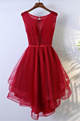 Glamorous Quinceanera Sleeveless Short Dama Dresses | Sequins Red Cheap Dama Dresses Online_3